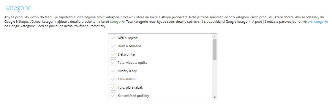google-kategorie